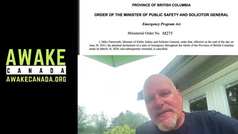 BC Emergency Orders Revoked!!