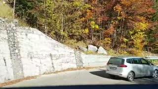Terrifying, Beautiful Hairpin Mountain Road In European Autumn
