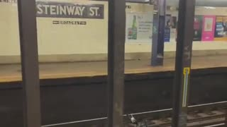 Someone throws bomb at NYC subway train