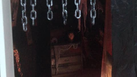 This couple turned their 2 car garage into a haunted house