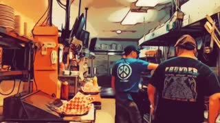 GOTL Line Cooks Hyperlapse Comic Style with Music