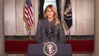 First Lady Melania Trump Sends Farewell Message