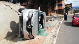 Se registra congestión vehicular en la autopista a Bucaramanga por fuerte accidente
