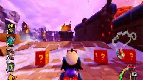 Barin Ruins Nintendo Switch Gameplay - Crash Team Racing Nitro-Fueled
