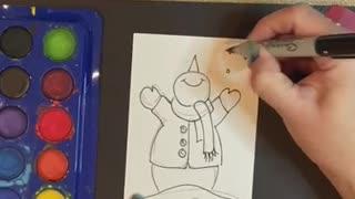 Snowman Christmas Card Tutorial