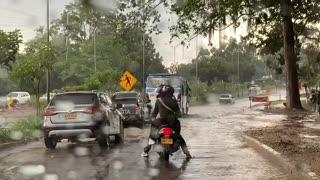 Reportan fuerte aguacero en Piedecuesta este sábado