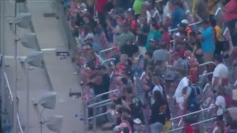 Far-left NBC reporter's attempt at damage control during a 'fuck Joe Biden' chant by NASCAR fans