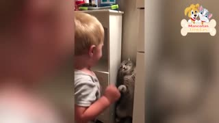 SUPER CUTE baby and cat moments