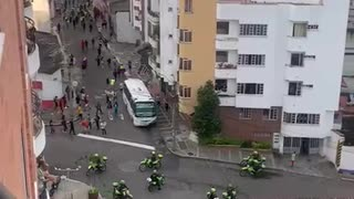 barricadas en la carrera 27 durante protesta