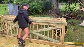 Coolest deck gate!