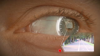 Digital memories - bionic eye with futuristic elements