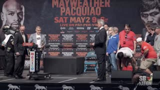 Mayweather vs. Pacquiao Weigh-Ins: Floyd Mayweather vs. Manny Pacquiao