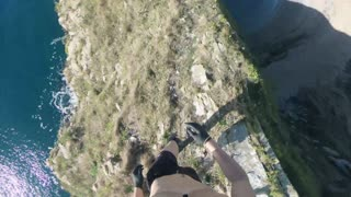 Cliff Jumping from Durdle Door POV