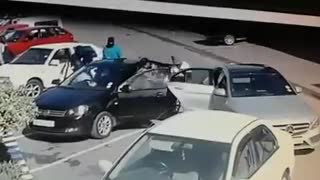 Armed robbery caught on camera in South Africa