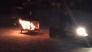 Mobile Frozen Lake Bonfire