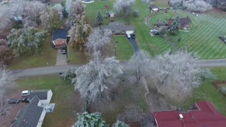 Aerial view of ice storm 2018