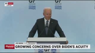 Concerns for Joe Biden's mental capacity are raised amid G7 gaffes