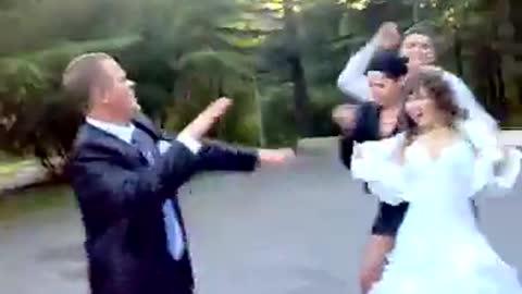 Queen Nephew's funny dance at the wedding