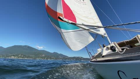 Sailing around Bowen Island, BC, Canada