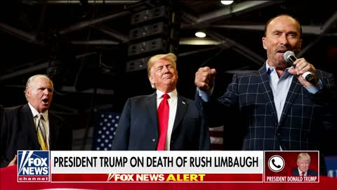 Trump reacts to Rush Limbaugh's Death