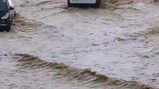 Heavy rains cause unreal flash floods in Ajaccio, Corsica