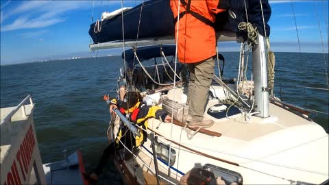 Sabine Pass Gulf of Mexico Sailboat Tow - Captain Tommy Savoy