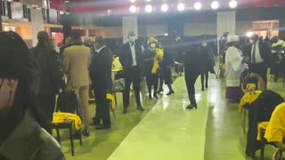 Mourners arrive for the funeral of Joburg mayor Jolidee Matongo
