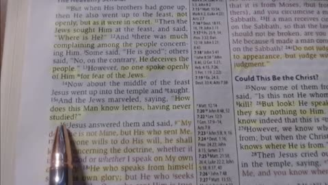 Bible study - 5-20-2021 - John 7:10-24
