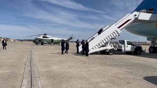 Biden Falls THREE Times While Boarding Air Force One