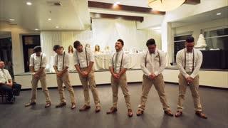 Epic bridal party flash mob dance performance