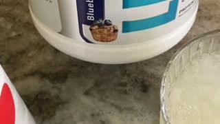 High Protein Blueberry Lemonade
