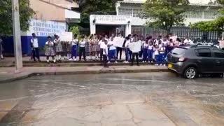 Protesta de la IE Antonia Santos