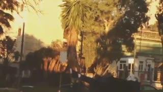 Boy scooter blue ramp back flip fail