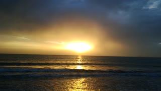 Incredible sunrise in blue