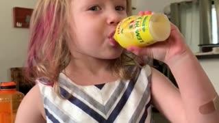 Little Girl tries Lemon Juice