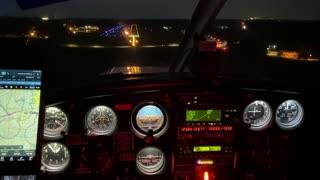 Night flight landing at UZA Rock Hill, SC