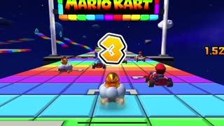 Mario Kart Tour - Rainbow Road R/T Gameplay (Mario vs. Luigi Tour)