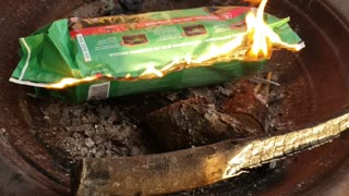 Trying out fire log