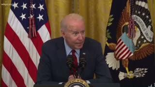 Joe Biden Bizarrely Whispers To Press