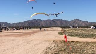 2020 Arizona Flying Circus - Paramotors inflight