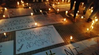 Realizaron plantón en Cimitarra para rechazar el asesinato de las dos estudiantes en Bucaramanga