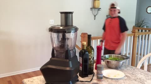 KTKK Kids Cooking: Kasey makes crepes while on a hoverboard!