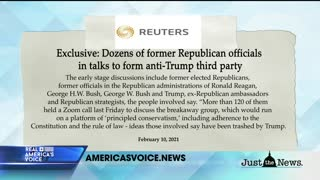 Dozens of former GOP officials meet to discuss forming third party