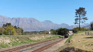 Wine tram South Africa