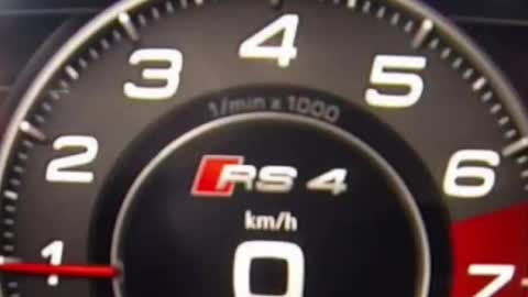 #Shorts Audi RS4 0-260kmh acceleration in 20 seconds