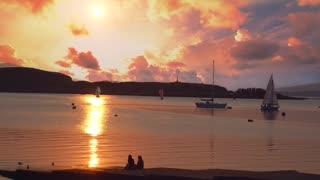 Cinemagraph of Scottish Sunset