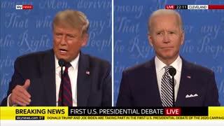 Trump vs. Biden-First Presidential Debate 2020