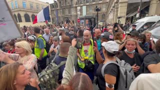 Protests after France's Constitutional Court upheld Covid pass and mandatory vaccinations