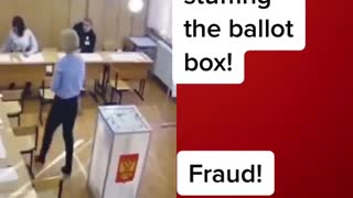 """Evidence of voter fraud in Michigan! Women stuffing the ballot boxes with """"votes"""""""