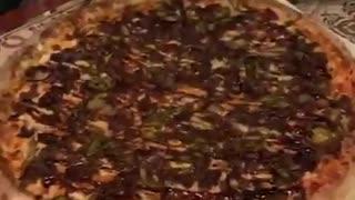 burning pizza
